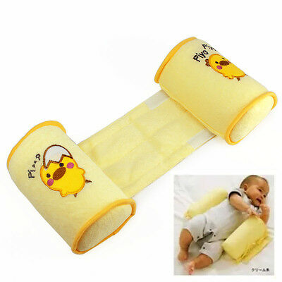 Toddler Sleep Cotton Baby Anti Roll Pillow Head Positioner Anti-rollover Yellow