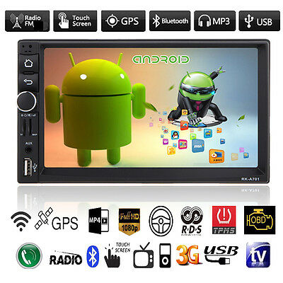 "7"" Double 2 Din Android Car Bluetooth MP3 MP5 Player GPS Nav Stereo FM Radio USB"