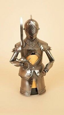 Flame Homeware Metal WINE BOTTLE HOLDER - MAC THE KNIGHT 9271 - New & Boxed