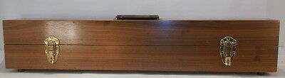 S Sn3 On3 O CUSTOM BUILT WALNUT TRAIN CARRYING/DISPLAY CASE-REAL WOOD CASE