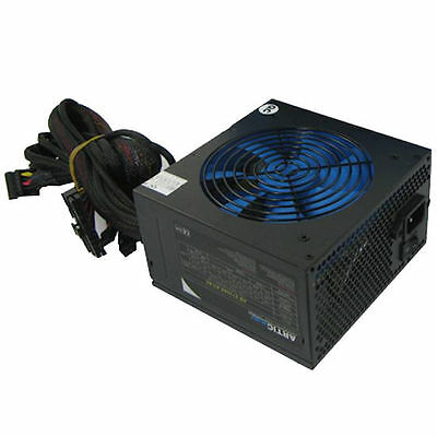 ACE Artic 850W Black ATX Gaming PC 6+2Pin PCIe PSU Power Supply 120mm Blue