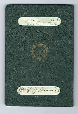 JUDAICA IRAQ OLD PASSPORT CANCELLED - NOT VALID 1960s VISAS CONSULAR STAMPS