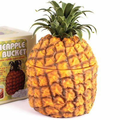 PINEAPPLE Vintage Ice Bucket With Lid Retro Wine Bottle Bar Cooler Ornament UK
