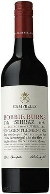 Campbells `Bobbie Burns` Shiraz 2013 (6 x 750mL), Rutherglen, VIC.