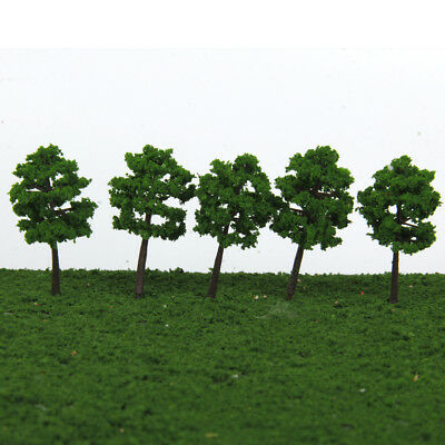 40 Dark Green Tree Model Train Railway Diorama Wargame Park Scenery Z Scale