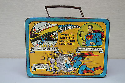 1954 Vintage Rare Superman Metal Lunchbox by Universal