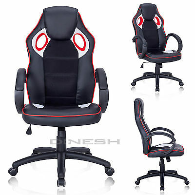 Brc-06 Manager Chair Black Red Sport Seat Racing Swivel Office Bucket