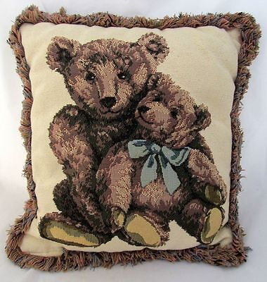Teddy Bear Tapestry Fabric Plush Pillow Sitter Baby Nursery Decor