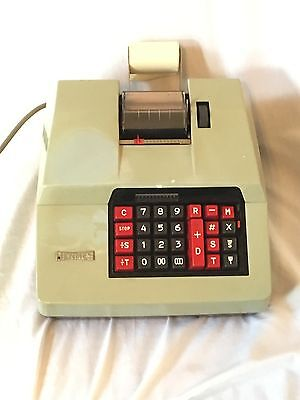 Vintage HERMES Calculator Precisa 167-12 Electric Adding Machine -Tested Working