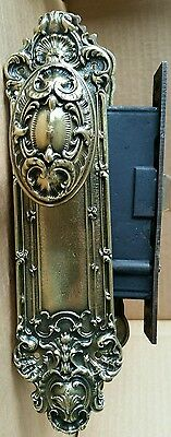 Awesome Antique  Victorian Cast Brass Entry Door Set Restored