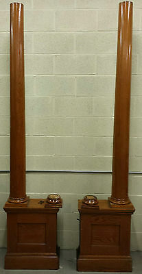 Pair Vintage Oak Colonnade Room Divider,, Columns,architectural Salvage