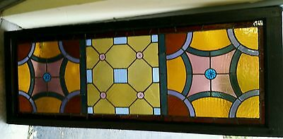 Antique Stained Glass  Window Victorian Era