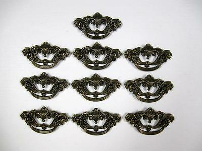 Lot 10 Antique Brass Drawer Pulls Handles by Keeler KBC