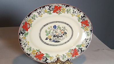"Woods & Sons Burslem Ivory Ware Norbury 11 3/4"" Oval Serving Platter"