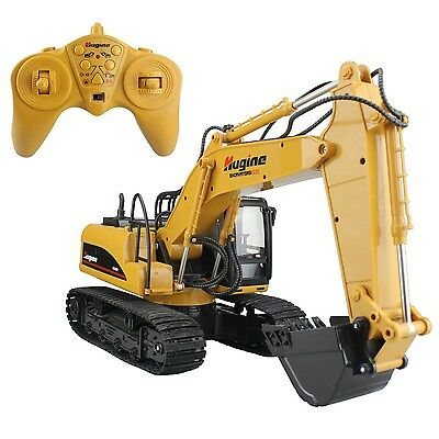 Hugine 15 Channel 2.4G Crawler Full-Function Remote Control Exca... New Free P&P