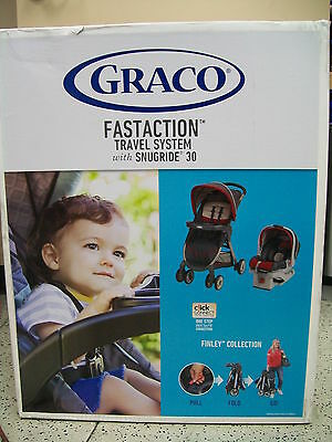 Graco Fastaction Travel System with Snugride 30 - Finley