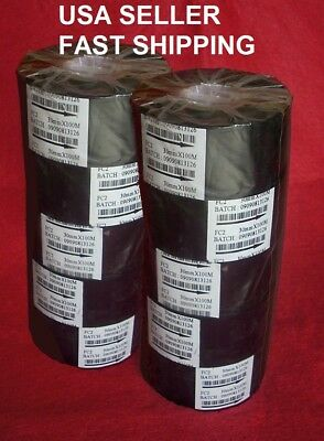 Hot Stamp Printer 33mm WIDE Black Ribbon FC2 (10 pack) SHIPPED FROM USA  FREE!!