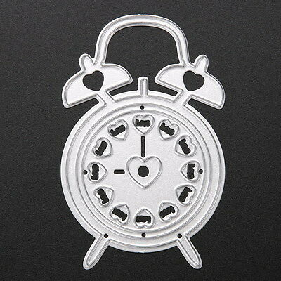 Alarm Clock Cutting Dies Stencils DIY Scrapbooking Album Paper Card Diary Crafts