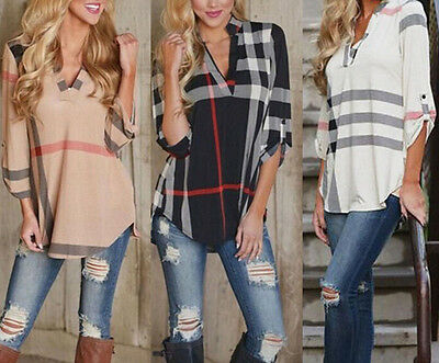 Lady Women's Shirt New Blouse Casual Blouse Tops Fashion Long Sleeve Loose