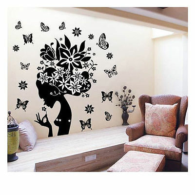 DIY Removable Flower Vinyl Wall Sticker Decal Home Room Decor Art Mural Stickers