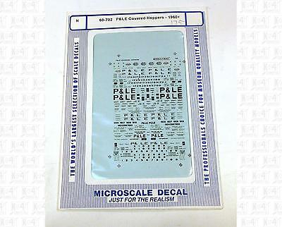 Microscale N Decals P&LE Pittsburgh and Lake Erie Freight Cars 60-702