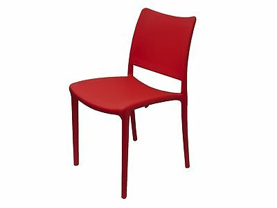 Inca Outdoor CHAIR Stackable Restaurant Cafe Seat Dining Chairs Red