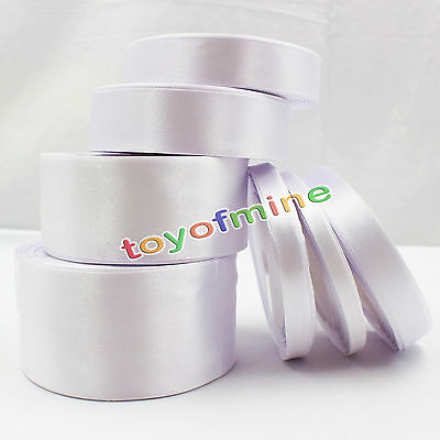 White Silk Satin Ribbon 6mm-50mm 25 Yards Wedding Party Decoration Ribbon Gift