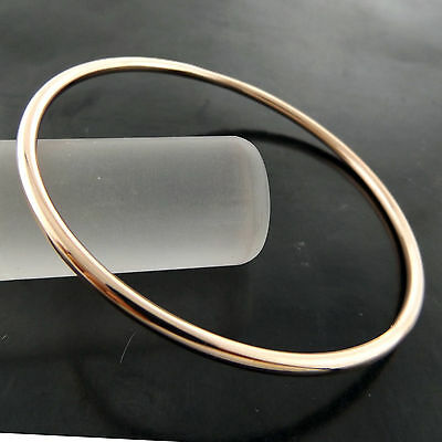 A732 Genuine Real 18Ct Rose G/f Gold Solid Ladies Golf Cuff Bangle Bracelet