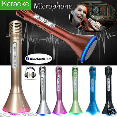 K1 Mini Handheld Wireless Bluetooth Karaoke Player Microphone Speaker KTV Mic