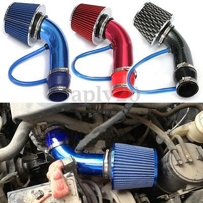 """2.5""""-3.0"""" Universal Cold Air Intake Filter Alumimum Induction Pipe HOSE System"""