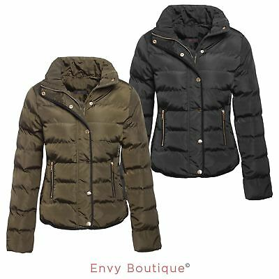 Brave Soul Ladies Womens Quilted Winter Puffer Padded Parka Jacket Coat