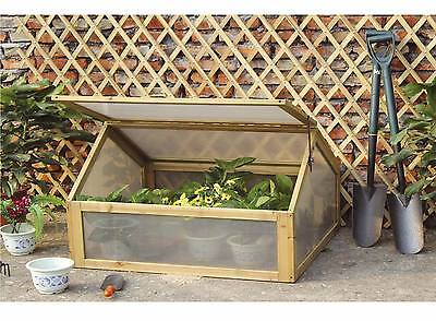 Charles Bentley Wooden Cold Frame Mini Greenhouse Grow House
