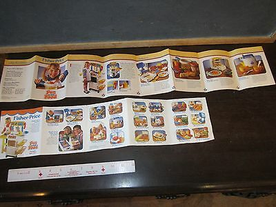 1987 Fisher Price Toy Booklet Catalog Fun with Food Parts Ad Insert Kitchen Toys