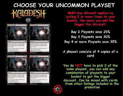 MTG Kaladesh KLD Choose your UnCommon Playset (x 4 cards) (H-W) 1st Class Post