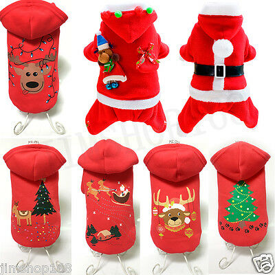 Pet Dog Warm Clothes Puppy Shirt Winter Sweater Costume Jacket Coat Apparel LOT