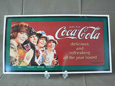 Coca Cola delicious and refreshing all the year 'round Metallschild 1993 USA