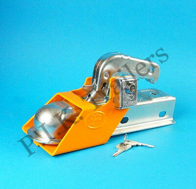 FREE P&P* Security Coupling Hitch Lock for Trailer Caravan    #ZZ02A  #TR