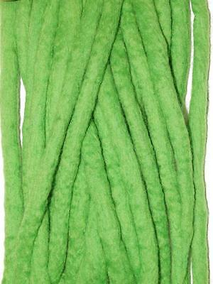 Vivid Green Dreadlocks - 16 Handmade felted merino wool double ended dreads