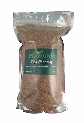 Brown Flaxseed / Linseed 1KG - *MILLED/GROUND* Natural Raw Flax Seeds Lin Seeds