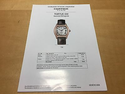 Picture + Details TORTUE GM Seconde Rétrograde Collection Privée CARTIER 2004