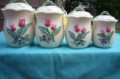 Canister set by Treasure Craft ceramic 8 piece set