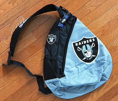 Oakland Raiders BackPack / Back Pack Book Bag NEW - TEAM COLORS - SLING