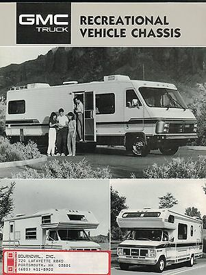 1987 GMC RV CHASSIS Brochure : Motor Home,P/G-3500,P6T042,RALLY CAMPER SPECIAL,