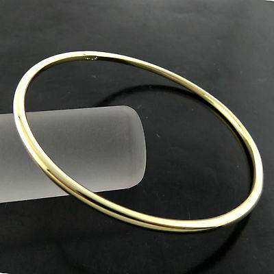 A729 Genuine Real 18Ct Yellow G/f Gold Solid Ladies Golf Cuff Bangle Bracelet