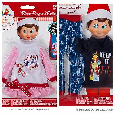 Exclusive 2016 Elf on the Shelf Claus Couture Nightgown & Jolly Jammies Free S&H