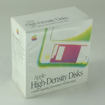 Sealed box of 10 Apple High-Density floppy disks [1.44MB, formatted]