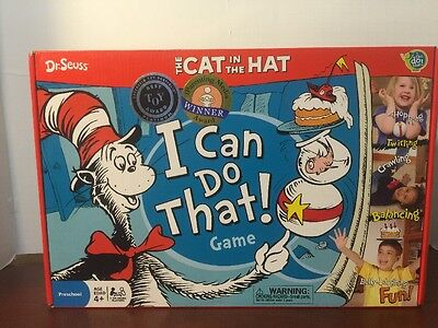 The Cat in the Hat I Can Do That! Game - Boys & Girls Ages 4 to 8 - NEW