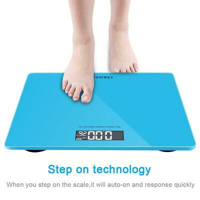 New Electronic Digital Bathroom Scale Glass Body Weight Scale 180kg