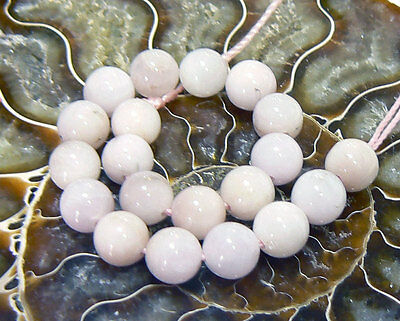 "20 NATURAL PINK CAT EYE AFGHAN KUNZITE ROUND BEADS 4.75"" STRAND 6mm"