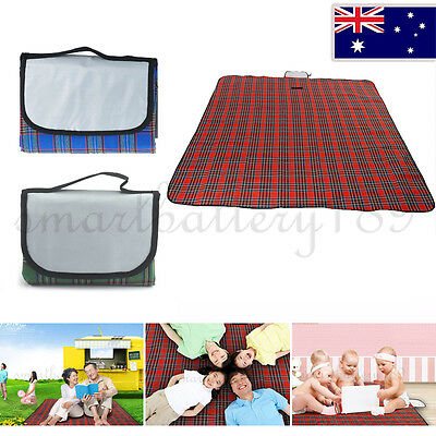Extra large waterproof picnic blanket rug travel outdoor for Au maison picnic blanket